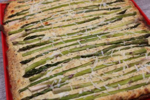 Ricotta Asparagus Tart (Gluten Free, Low Carb) - My Crash