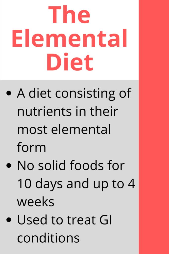 sibo elemental diet enough protein